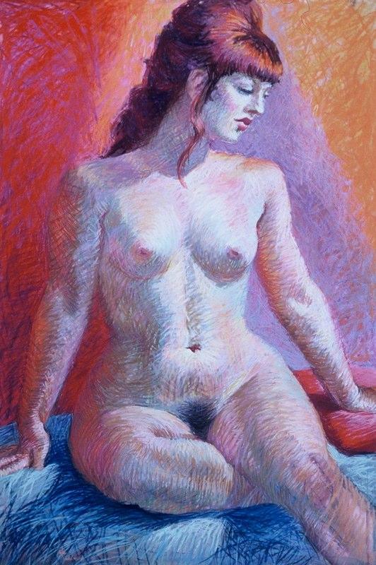 Stephanie_Goldman-Bordeaux-Nude-Pastel-34x22