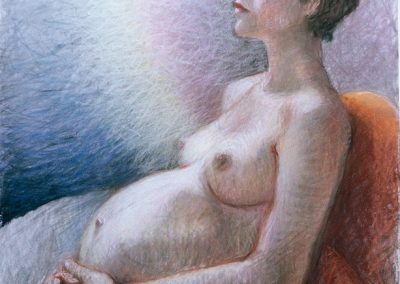 stephaniegoldmanfineart-Virgin Baby Unknown-Pastel-34x22