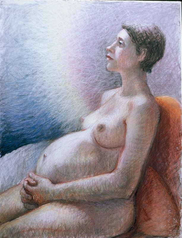 Stephanie_Goldman-Virgin-Baby-Unknown-Pastel-34x22