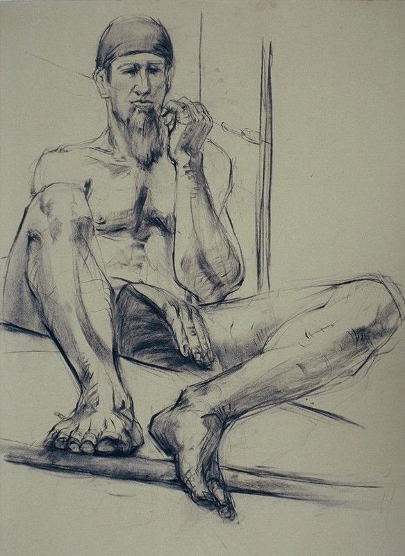 Stephanie_Goldman-Male-On-Loft-Charcoal-Drawing-30x18