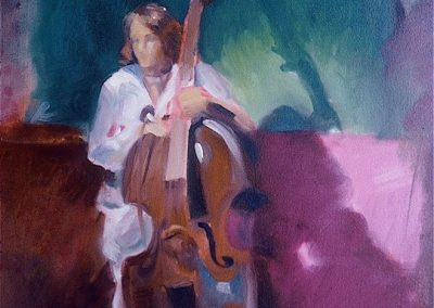 kengoldmanfineart-Base Player-Oil-24x18 -SOLD