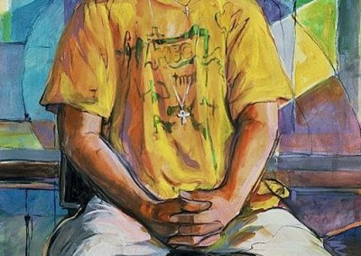 kengoldmanfineart-OJ Fitz Henley-Acrylic-Figures-38x25 - SOLD