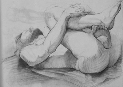kengoldmanfineart-Male Nude-Charcoal Drawing-18x24 - SOLD