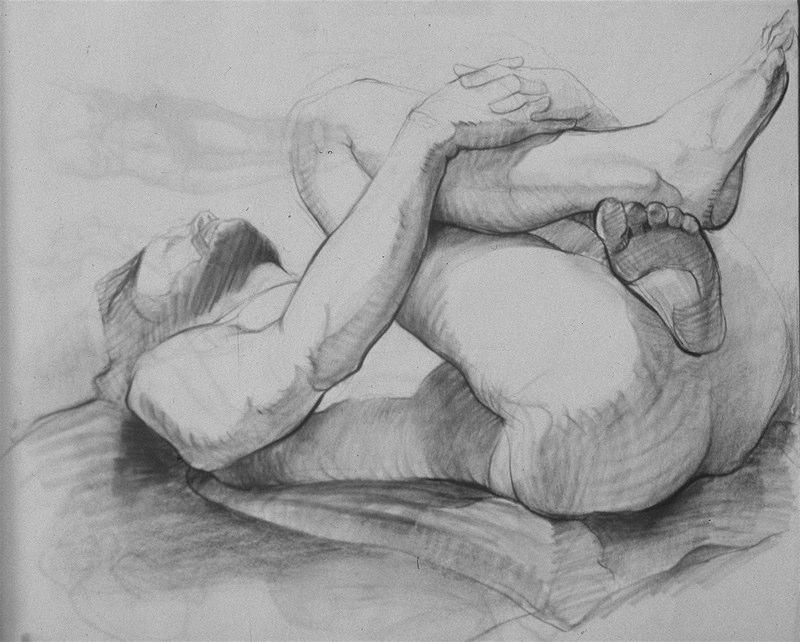 Ken_Goldman-Male Nude-Charcoal Drawing-18x24 - SOLD