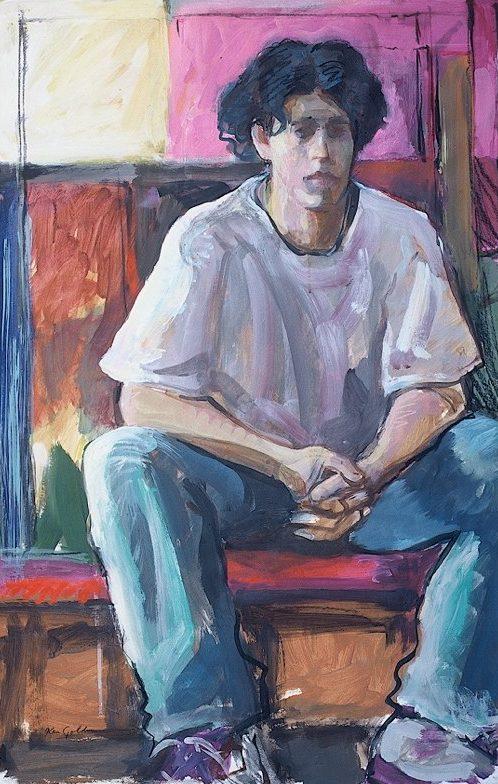 Ken_Goldman-Waiting-Acrylic-Figures-38x25 - SOLD
