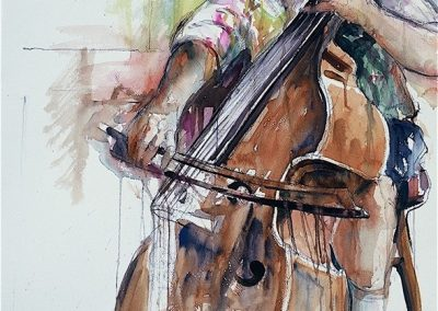 kengoldmanfineart-Rehearsal 1-Watercolor-30x22 - SOLD - Giclees Available