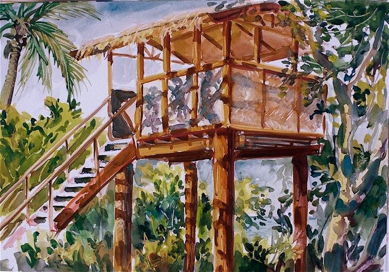 Ken Goldmanfineart_Tavarua Lookout_Watercolor_12x16Ken Goldmanfineart_Fruit On A Table_Watercolor-30x22, SOLD