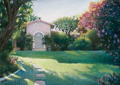 kengoldmanfineart-Garden Shed-Pastel-22x30- SOLD