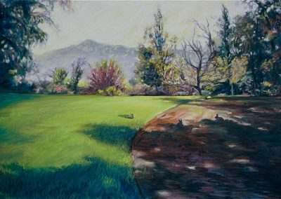 kengoldmanfineart-Rancho La Puerta Lawn-Pastel-22x30