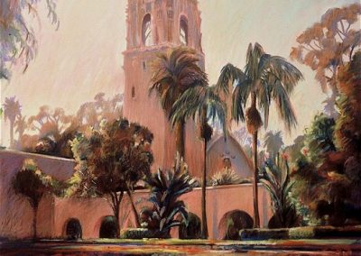 kengoldmanfineart-Alcazar Gardens-Pastel-36x24- SOLD