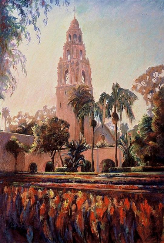 Ken_Goldman-Alcazar Gardens-Pastel-36x24- SOLD