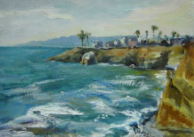 stephaniegoldmanfineart-Drive By Cove-Oil-8x10