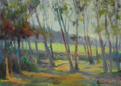 stephaniegoldmanfineart-Drive- By Trees-Oil-9x12