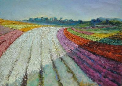 stephaniegoldmanfineart-Flower Fields-Oil-12x16