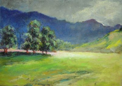 stephaniegoldmanfineart-Ultra Blue Mountains-Oil-12x16