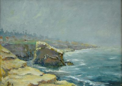 stephaniegoldmanfineart-Cormorant Rock-Oil-14x18