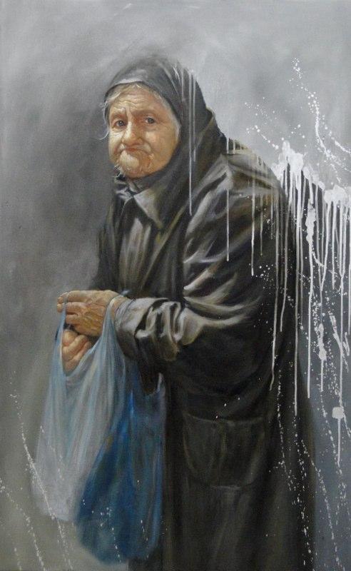 Stephanie Goldmanfineart-Urban-Hermit-Eve-Oil-54x36