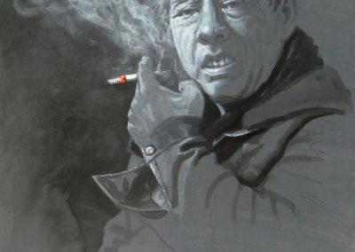 stephaniegoldmanfineart-The Smoker-Watercolor-12x9