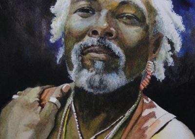 kengoldmanfineart-Pauolo Cristobal Portrait-Watercolor-14x11
