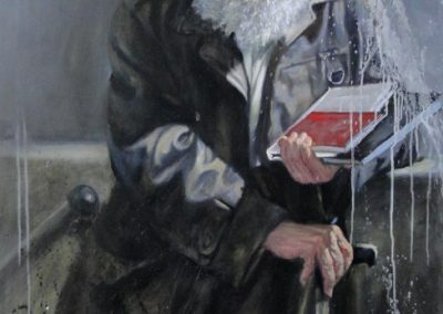 stephaniegoldmanfineart-Urban-Hermit-Adam-Oil-54x36
