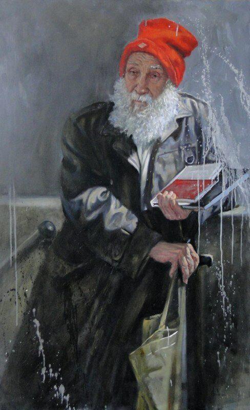 Stephanie Goldmanfineart-Urban-Hermit-Adam-Oil-54x36