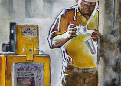 stephaniegoldmanfineart-The Journalist-Watercolor-10x8
