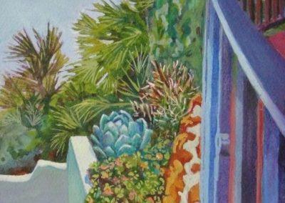 stephaniegoldmanfineart-LaCanada Steps-Watercolor-11x7