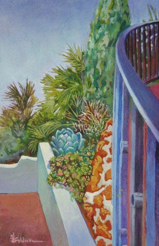Stephanie_Goldman-LaCanada-Steps-Watercolor-11x7