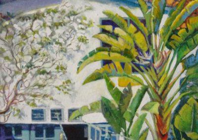 stephaniegoldmanfineart-LaCanada Secret Garden-Watercolor-11x7