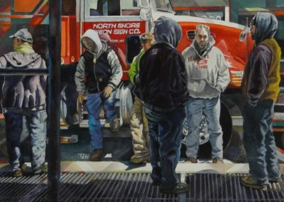 kengoldmanfineart-NY Construction Squad-Watercolor-22x22