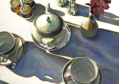 kengoldmanfineart-Morning Shadows-Watercolor-22x22 - Giclee Available