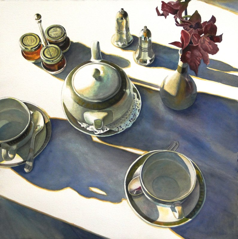 Ken_Goldmanfineart_Morning Shadows_Watercolor_22x22 - Giclee Available