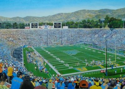 kengoldmanfineart-UCLA verses Cal-Acrylic-22x60 - SOLD - Giclees Available