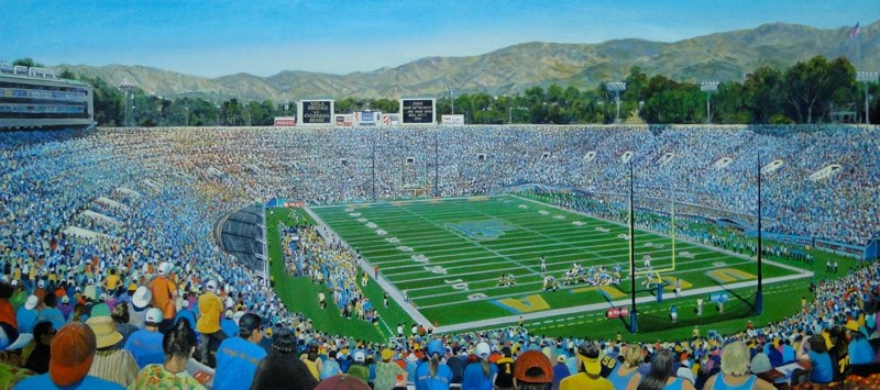 Ken_Goldman-UCLA verses Cal-Acrylic-22x60 - SOLD - Giclees Available