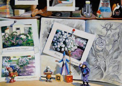 kengoldmanfineart-Garden Wizard-Acrylic-18x24