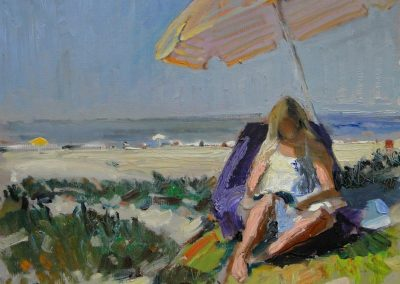kengoldmanfineart-Beach Reader-Oil-Landscape-11x14 - SOLD