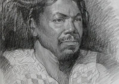 kengoldmanfineart-Portrait Study Charcoal-Drawing-14x11