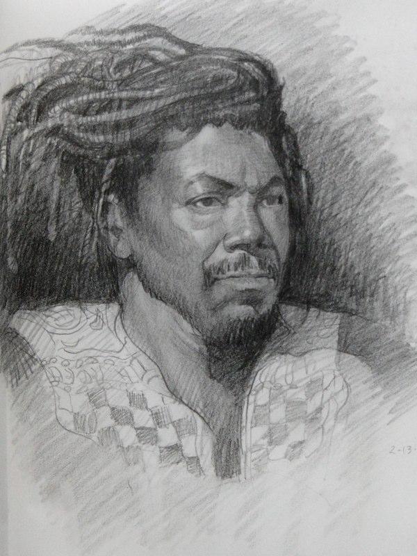 Ken_Goldman-Portrait Study Charcoal-Drawing-14x11
