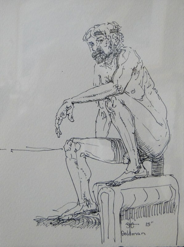Stephanie_Goldman-Van-Seated-on-Couch-Ink-Drawing-8x6