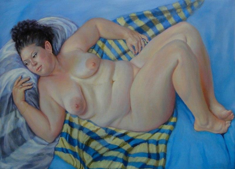 Stephanie Goldmanfineart-Rubenesque-Oil-48x54