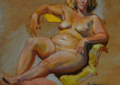 stephaniegoldmanfineart-Amber Girl -Oil 10x10