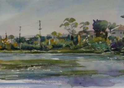 kengoldmanfineart-Famosa Slough-Watercolor-12x22