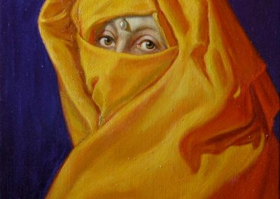 stephaniegoldmanfineart-Saffron-Bride-Oil-20x16
