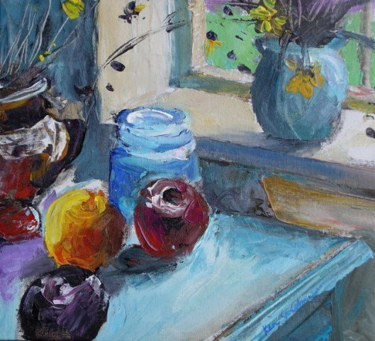 Ken_Goldman-Backlit-Still Life 2-Acrylic-12x14 - SOLD - Giclees Available