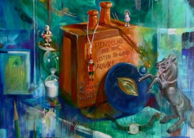 kengoldmanfineart-Pinnochio's Day Dream-Acrylic-84x60