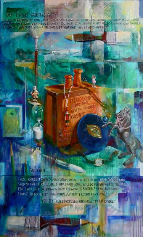 Ken_Goldman-Pinnochio's-Day-Dream-Acrylic-84x60
