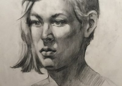 stephaniegoldmanfineart-Head Study-Charcoal Drawing-24x18
