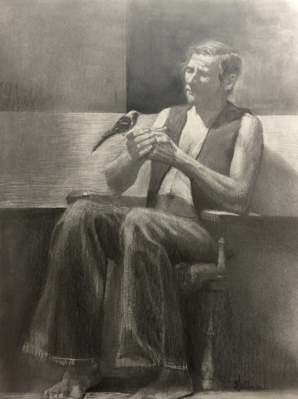 Stephanie_Goldman-Bird-In-The-Hand-Graphite-Drawing-24x18
