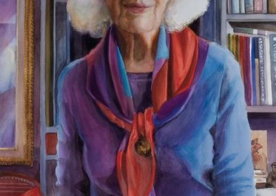 kengoldmanfineart-My Mother At 100-Watercolor-30x22