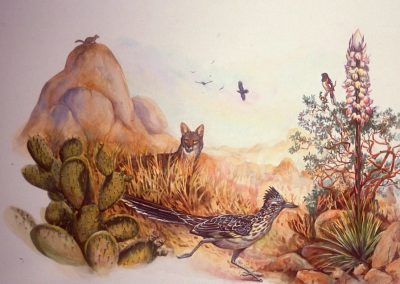 Goldmanfineart-Public Art Mural-Rancho La Puerta-Study for Coyote Mural
